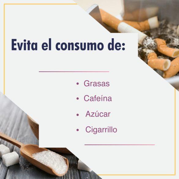 Evita consumo de estas sustancias