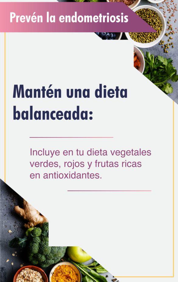 Mantén una dieta balanceada