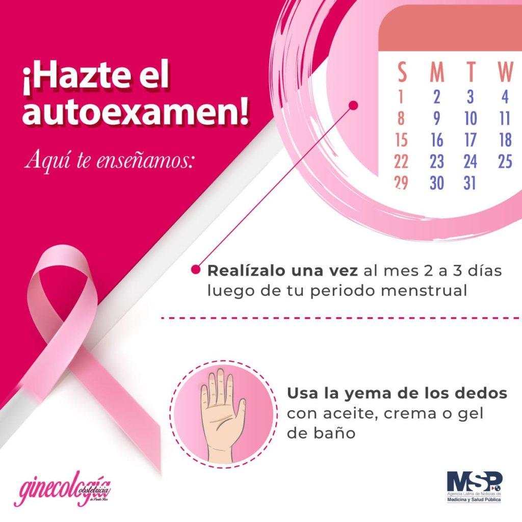 Hazte el autoexamen, cáncer de mama